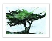 Fine art print from original watercolor painting by Paul Bailey: Windswept Monterey