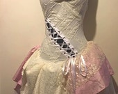 Shabby Chic Wedding Dress - Whimsical Merlot Dress - Made to Order