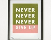 Graphic Design Typography Giclee Prints - Winston Churchill Quote - He Said She Said series