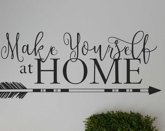 Make yourself at home wall decor tribal vinyl lettering sticker decal BC764
