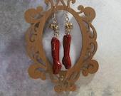 ooak human degloved arm earrings horror art jewelry Halloween earrings red earrings handmade original unusual jewelry macabre art earrings