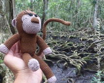 Amigurumi Crochet Pattern Monkey PDF - Monkies amigurumi Toy crochet pattern - Instant DOWNLOAD