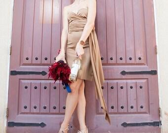 Sable Brown Infinity Convertible Dress -37 Colors - Bridesmaids, Wedding, Prom