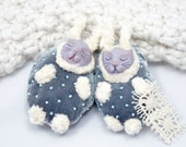 Nestling Bunnies OOAK Art Dolls - Velveteen Rabbit - Snuggling Baby Bunny Art Dolls - OOAK Bunny Art Dolls - Small Baby Velvet Rabbit Dolls