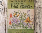 Vintage Wildflower Book - Edith Johnson Illustrated Plates for Art or Framing - Distressed Gift Book