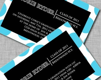 GRADUATION ANNOUNCEMENTS - Printable Announcements and Party Supplies - Use Your School Colors