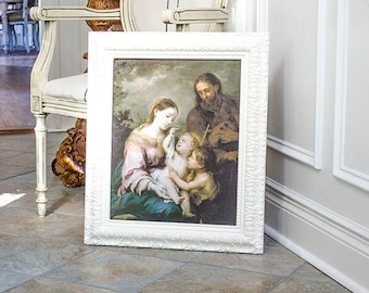 LAYAWAY for Debbie: The Holy Family with Little St John Art Print, Framed, Murillo, Print on Canvas