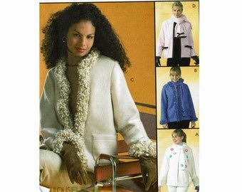 Jackets & Scarves Uncut Sewing Pattern XSm 4-6 Sml 8-10 Med 12-14 Bust 29 1/2-36 Easy McCalls 4667 Fleece sewing pattern