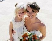 Ivory flower girl dress, baby dress, ivory flower girl dress, lace dress, cream flower girl dress, vintage flower girl dress, rustic dress