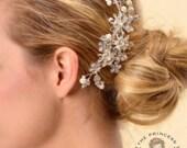 bridal hair comb, bridal hair comb, bridal hair piece, bridal hairpiece, comb, bridal hair, bridal hair vine, vintage wedding