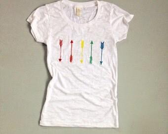 just be yourself Tee, Arrows Tee, Yoga Tee, Rainbow Tee, Gay Pride, S,M,L,XL