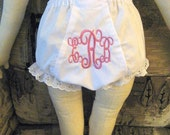 Intertwining Pendant Font Monogrammed Bloomer Diaper Cover Personalized Baby Bloomer Diaper Cover Intertwining Font