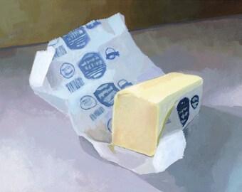 """8x10"""" print - still life - """"Butter 2"""""""