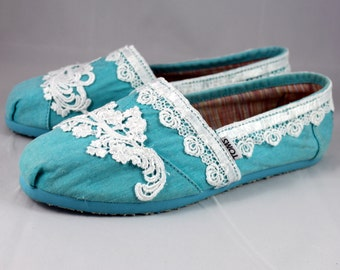 Wedding TOMS -  Lace TOMS - Custom TOMS size 8
