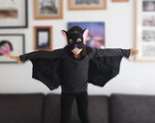 Bat tshirt and mask for kids. Bat costume, dress up party and carnival apparel.