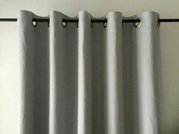 curtains, grommet curtains, SALE Dove grey linen window curtains ...