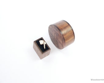 Engagement ring box - ring box - wood ring box - proposal ring box - personalized gift -  gift for her - elegant ring box - small ring box