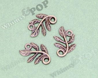 Antique Bronze Small Leaves Tree Branch Connector Charm, Leaves Charm, 22mm x 15mm (R9-030)