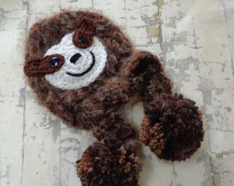 Crochet Sloth Hat for Baby