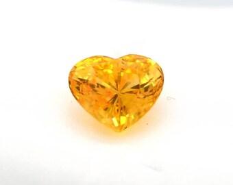 CERTIFIED 5.71 Carats heart shape yellow sapphire - 2353y