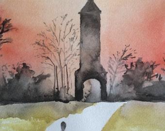 Clocktower in Silhouette