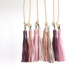 Leather Tassel. Leather Bag Charm. Tassel Handbag Charm. Tassel Purse Charm. Tassel Keychain. Tassel Key Fob. Tassel Key chain.