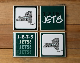 4 New York Jets Coasters