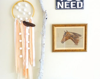 boho wall hanging macrame inspired driftwood and yarn wall