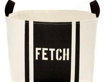 Fetch Striped Dog Storage Bin