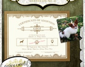 Pet Adoption Certificate No. 2 Vintage Design