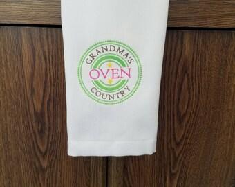 Grandma Embroidered Towel