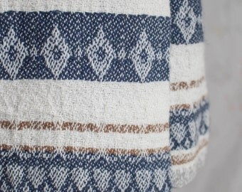 Vintage 90s Woven Skirt, 1990s Ethnic Skirt, Wrap Skirt, Ikat, Boho, Free People