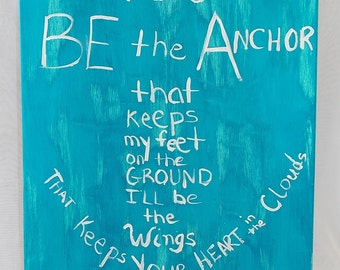 You Be The Anchor Canvas Wall Hanging