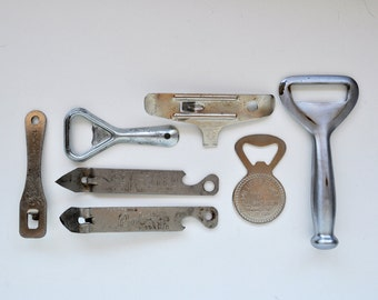 Vintage Advertising Bottle Openers Lot of 7