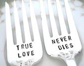 RESERVED - True Love Never Dies - Ambassador 1919 - Add Wedding Date on Handles