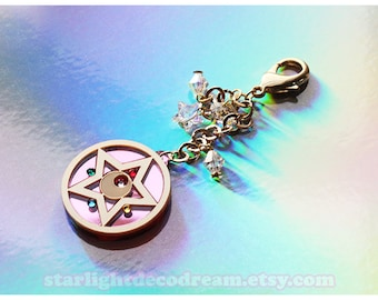 Starlight Deco Dream for simply gilded Crystal Star Compact Sailor Moon Planner Charm with Swarovski Accents and Gold Plated Chain