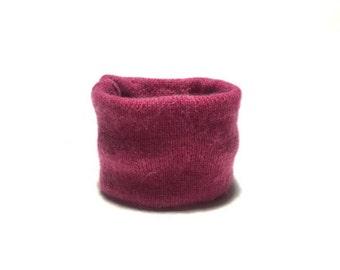 X Small Pink Cashmere Winter Dog Neck Warmer, Designer Pet Puppy Accessory