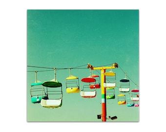 "large art print // large santa cruz art  // large santa cruz photography art - Summer of 67, 20""x20"" large art print"