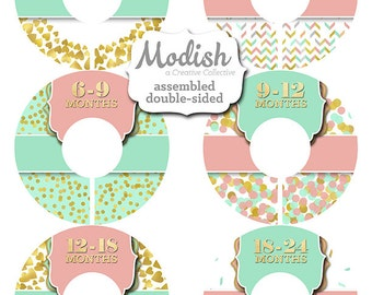 Closet Dividers, Assembled, Baby Closet Dividers, Closet Organizer, Girl, Gold Foil, Pink, Coral, Teal, Mint, Chevron, Baby Gift, Nursery