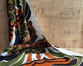 Edinburgh Weavers Marimba Fabric. Vintage Abstract Home Furnishing Fabric. Length 1m Cut from Bolt