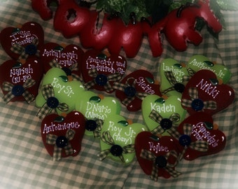 Country Apple Decor Apples Personalized Magnets Kitchen Whimsical