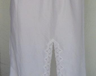 Vintage Slip Wonder Maid Taffeta Half Slip White Medium