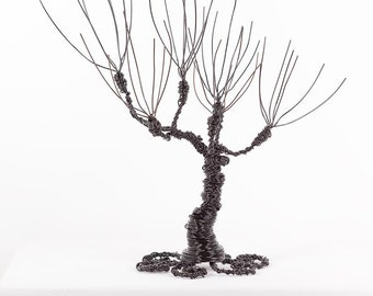 Whomping Willow Tree Cake Topper Wire Art Sculpture Office Gift Fantasy Gift