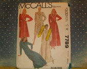 Vintage 1981 McCall's Robe Pattern #7789 Miss Size Small, New Never Used.