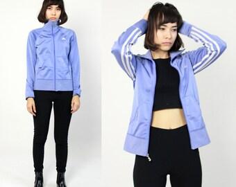 RARE Periwinkle Blue Adidas Track Jacket XS S