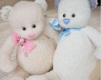 Handmade OOAK bespoke wedding bears.