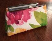 Water Color Flower Clutch Bag