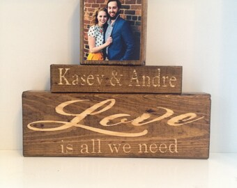 Personalized Wedding gift for couple | Bridal Shower Gift | Rustic Wedding Decor | Engagement Gift | Anniversary gift | minimalist home deco