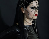 The Countess ~ Spike Wreath Headdress Chained Face Harness