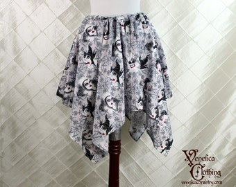 "Disney Villains Cotton Print Pixie Petal Skirt -- 4 Point, 24"" Point Length -- Fits up to 36"" Waist"